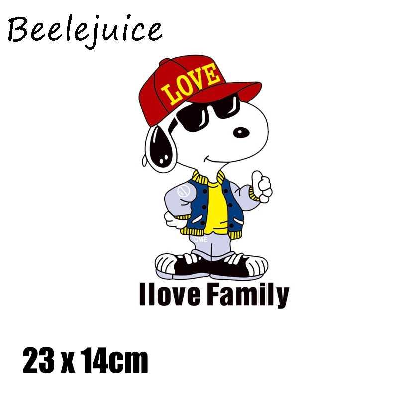 Kartun Anjing Besi Pada Patch Lucu Hewan Kecil Transfer untuk Pakaian Stiker Huruf Lencana Mudah Dicuci Diy T-shirt Cetak Dekorasi