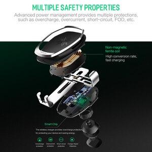 Image 3 - ROCK araç montaj Qi kablosuz araç şarj için iPhone X 8 artı hızlı kablosuz şarj pedi держатель для телефона