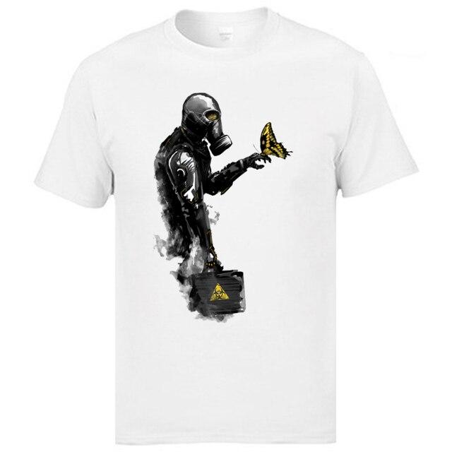 Biohazard crâne toxique retour vers le futur drôle homme haut T-shirts radioactivité coton femmes hommes hauts chemise fête T-shirts
