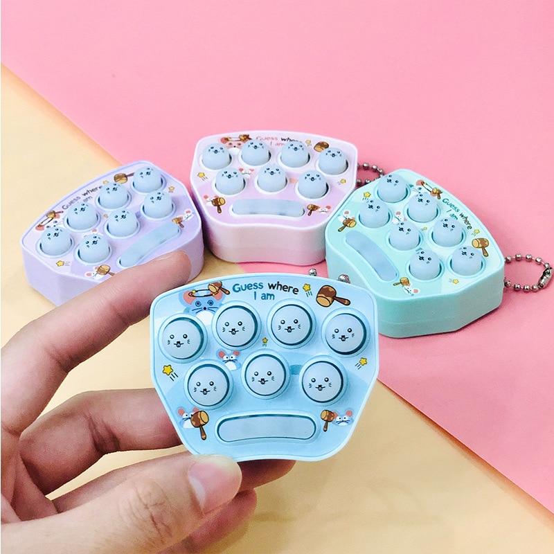 Mini Console Game Machine Children's Handheld Nostalgic Portable Mini Hamster Game Machine Console Keychain Toy Backpack Decor