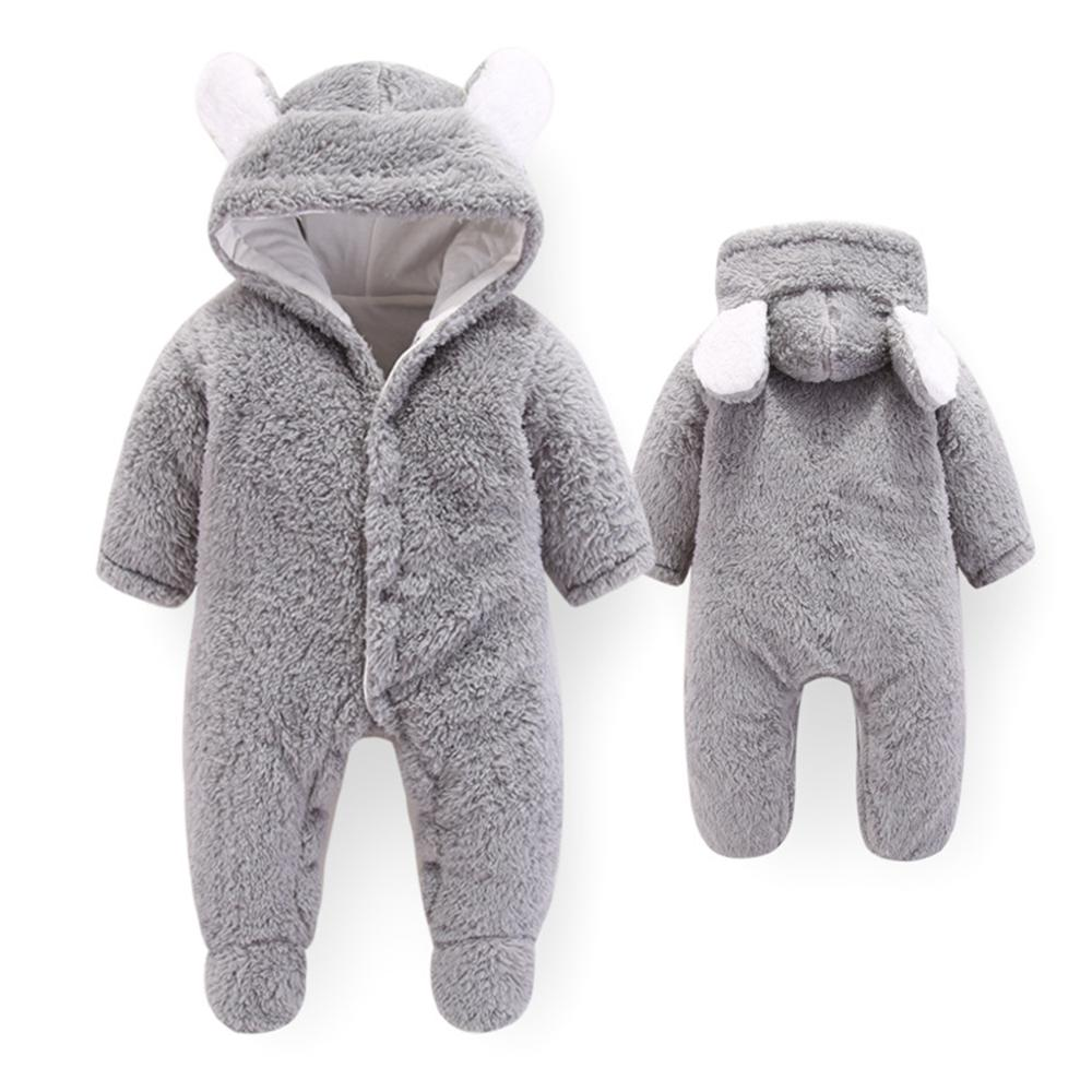 Newborn Baby Boy Girl Winter Rompers Toddler Infant Long Sleeve Jumpsuit Cotton Baby Costume Crawling Kids Bodysuits Footies