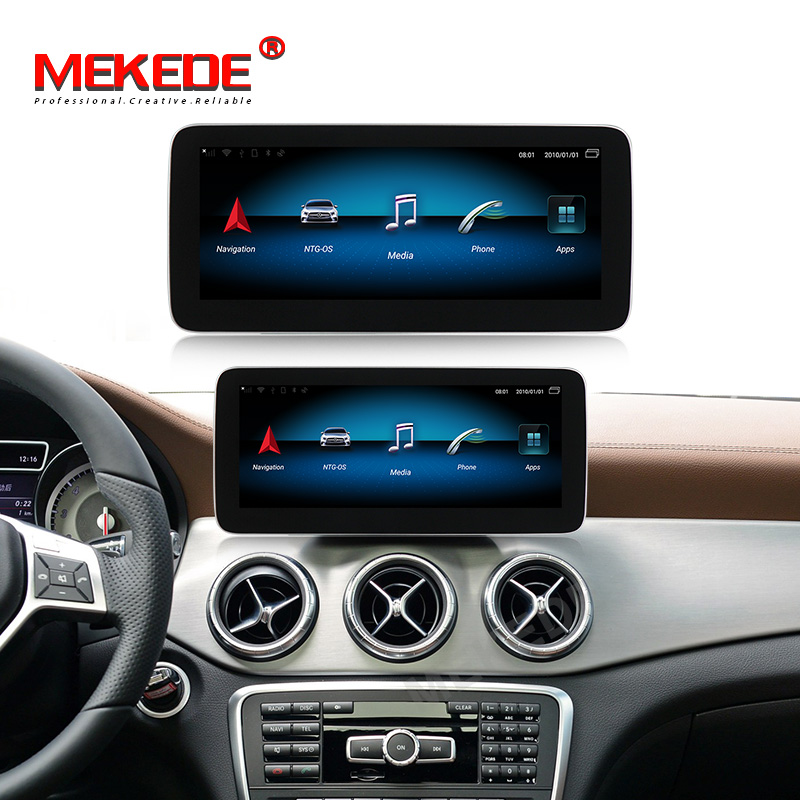 10.25''IPS Screen 4+64G Android9.0 Car GPS Navigation Player For Mercedes Benz CLA  W117 /A Class W176/GLA X156   GPS BT WIFI