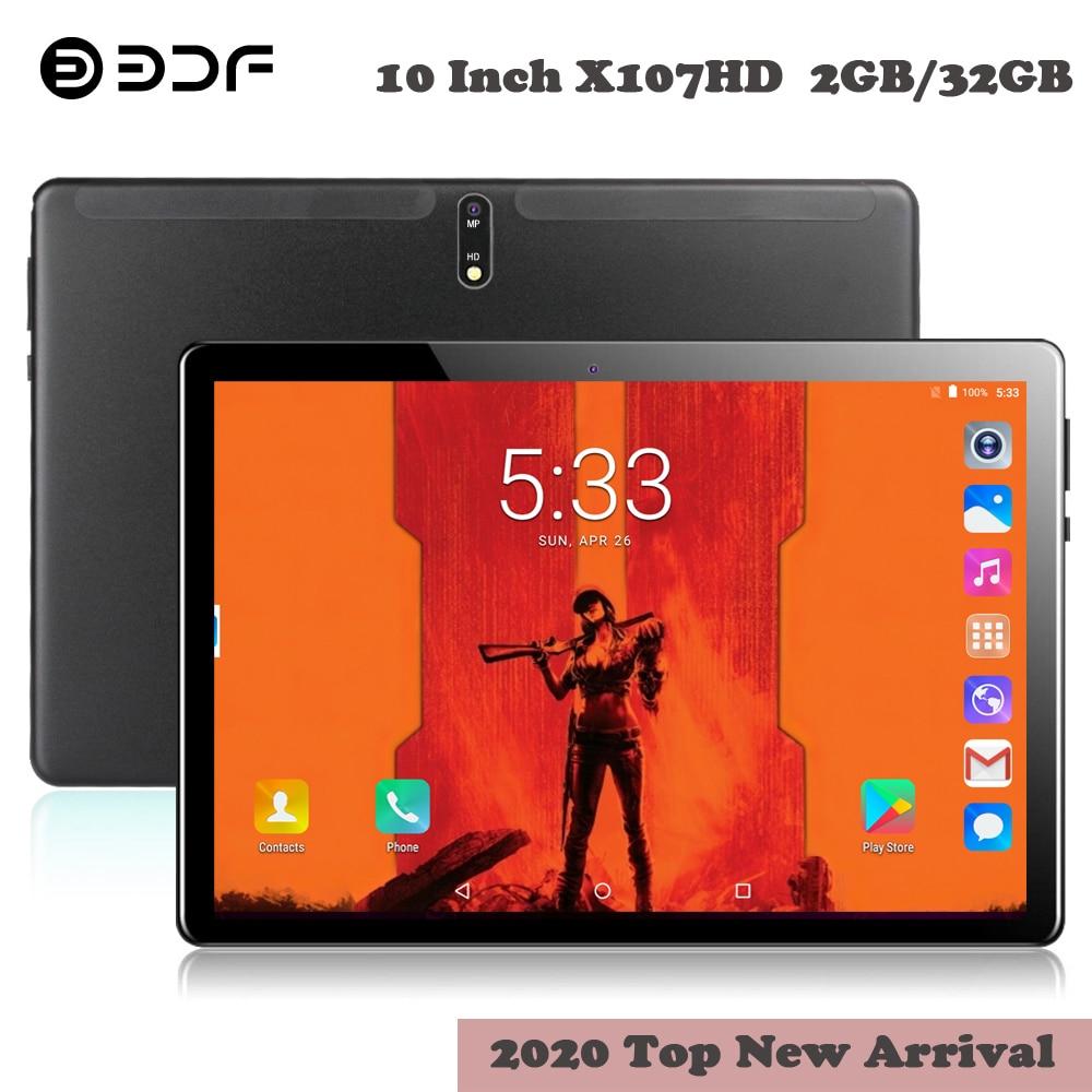BDF 10.1 Inch Tablets 3G Phone Call Tablet 2GB/32GB Quad Core Android 7.0 Wi-Fi Bluetooth 4.0 Dual SIM Steel Tablet PC