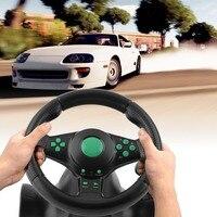Racing Spiel Lenkrad Für XBOX 360 PS2 Für PS3 Computer USB Auto Lenkung Rad 180 Grad Rotation Vibration mit Pedale-in Videospielräder aus Verbraucherelektronik bei