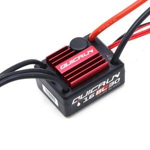 Image 4 - オリジナルを hobbywing QuicRun WP 16BL30 センサレスブラシレスモーター 30A esc + モーター kv4500 + プログラムカード 1/16 1/18 車