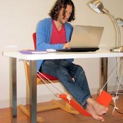 Przenośne biuro wypoczynek Home Office podnóżek biurko stopy hamak Surfing Internet hobby Outdoor Rest Dropshipping w Hamaki od Meble na