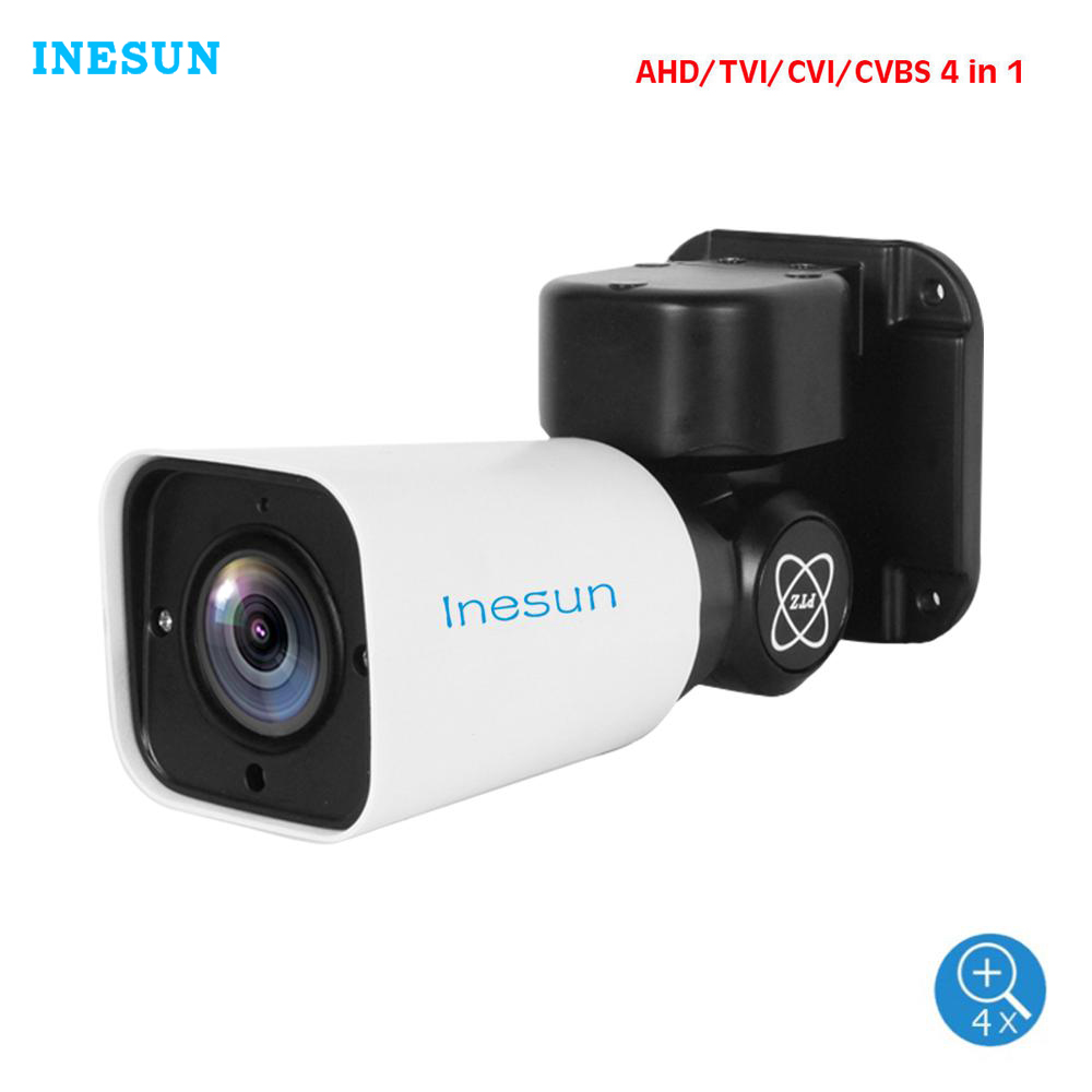 Güvenlik ve Koruma'ten Gözetim Kameraları'de Inesun açık güvenlik kamerası 5MP 4 in 1 AHD/TVI/CVI/CVBS 4X optik Zoom PTZ kamera su geçirmez destek UTC 120ft IR gece görüş