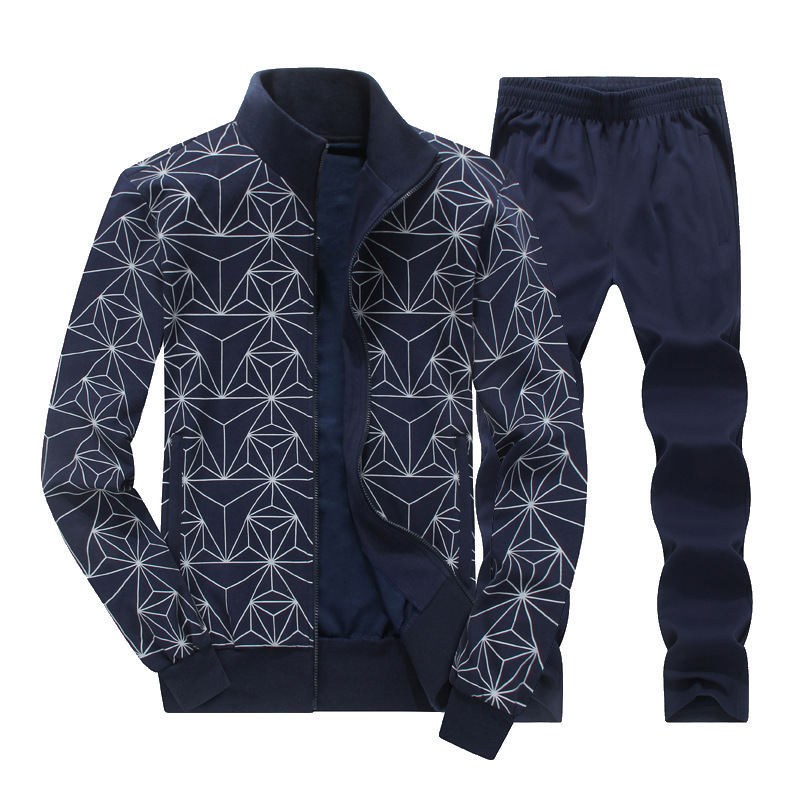 9560 New Style Printed Fashion Large Size Sports Set Men's Plus-sized Sports Clothing Men's