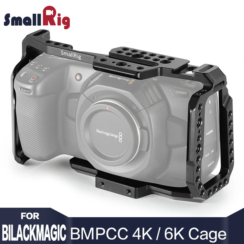 Smallrig bmpcc 4 k/6 k câmera da gaiola dslr blackmagic bolso 4 k/6 k câmera para blackmagic bolso cinema câmera 4 k/6 k bmpcc 4k 2203