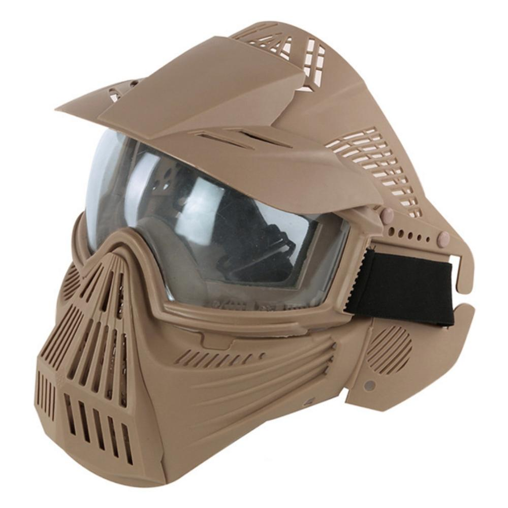 TF Full Face Paintball Mask Lens Goggle Tactical Mask Military Army Shooting Hunting Protective Equipment Wargame Airsoft Masks