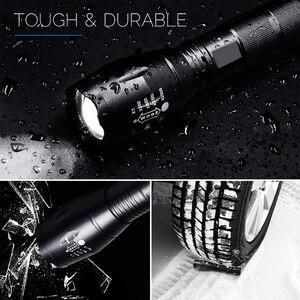Image 4 - EZK20 Q250 TL360 T6 LED כף יד טקטי פנס זום לפיד אור קמפינג מנורת עבור 18650 סוללה נטענת AAA