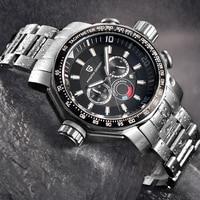 PAGANI DESIGN Business men's watches quartz luxury wristwatch male top brand steel chronograph men sport clock Relogio Masculino