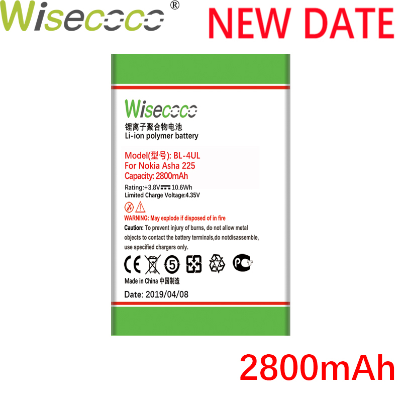 WISECOCO <font><b>BL</b></font>-4UL 2800mAh NEW Battery For NOKIA Asha <font><b>225</b></font> Asha225 Phone High quality battery image