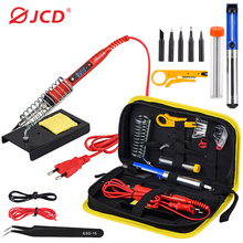 JCD Soldering iron kit adjustable temperature 220V 80W LCD solder welding tools Ceramic