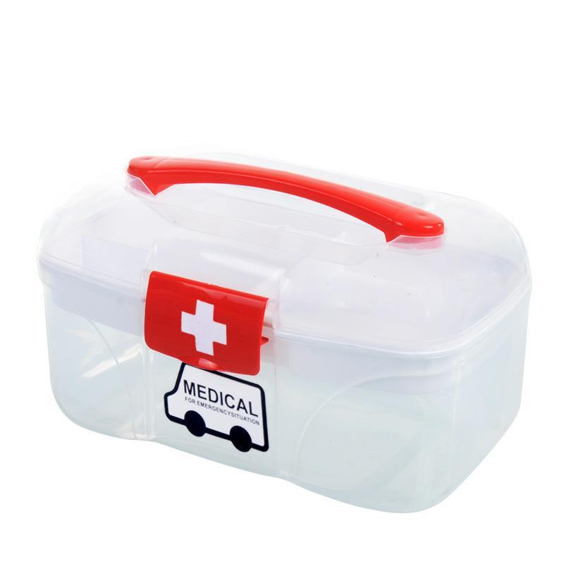 Family First Aid Kit Emergency Kit Portable Camping Survival Emergency Medical Drug Bandage Home Car Travel Storage Box