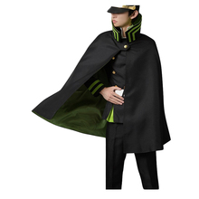 Seraph of the End Owari no Serafu Yuichiro Hyakuya Uniform Cosplay Costume with Hat and Wig anime seraph of the end cosplay yuichiro hyakuya backpack anime cartoon second element middle school student bag female backpack