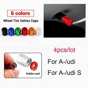 4 шт. алюминиевые колпачки для автомобильных шин и клапанов для Audi S Line RS S3 S4 S5 S6 S8 RS3 RS4 RS5 RS6 A3 A4 A5 A6 A8 аксессуары