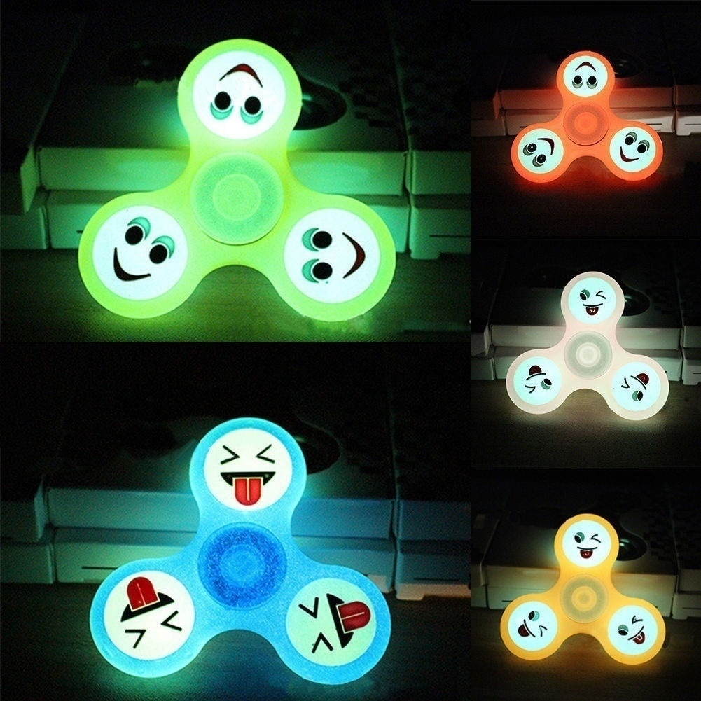 Fidget Spinner Holder Stand For Glow In Dark Luminous Spinner Toys EDC Hand Spinner Puzzles For Autism Reliever Spiral Gifts