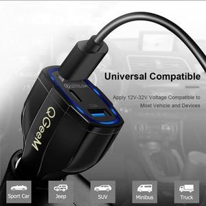 Image 4 - Qgeem Qc 3.0 Usb C Auto oplader 3 Poorten Quick Charge 3.0 Snelle Oplader Voor Auto Telefoon Opladen Adapter voor Iphone Xiaomi Mi 9 Redmi