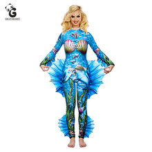 High Elasticity Tight Mermaid tail Costume Women Costumes Halloween Costume for Women Adult Mermaid Cosplay Jumpsuits(China)