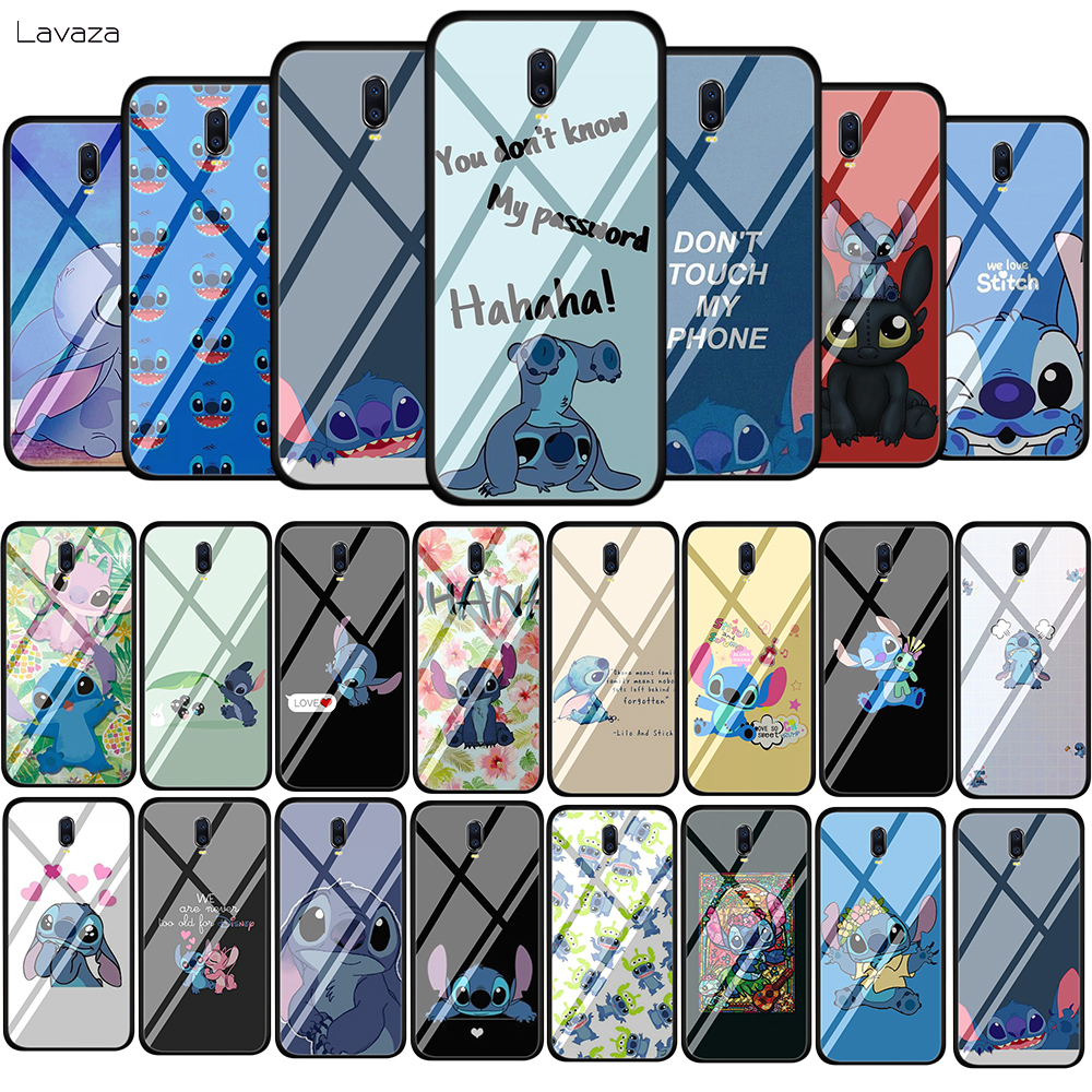 Lavaza Cute Cartoon Lilo Stitch Tempered Glass Soft Case for <font><b>OPPO</b></font> A3s A5s A7 A7x A37 A39 <font><b>A57</b></font> A73 A77 F5 F7 F9 F11 <font><b>Cover</b></font> image