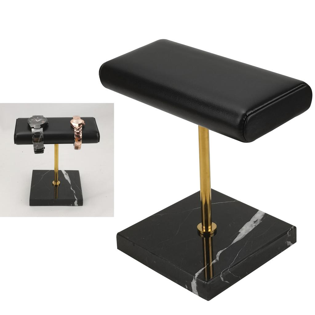 Stable Marble & PU Leather Watch Holder Display Stand for Showcase Style C
