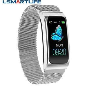 Image 1 - Smart Wristband AK12 IPS Color Screen Bluetooth Fitness Bracelet for Men/Women Sphygmomanometer Menstrual Cycle Activity Monitor