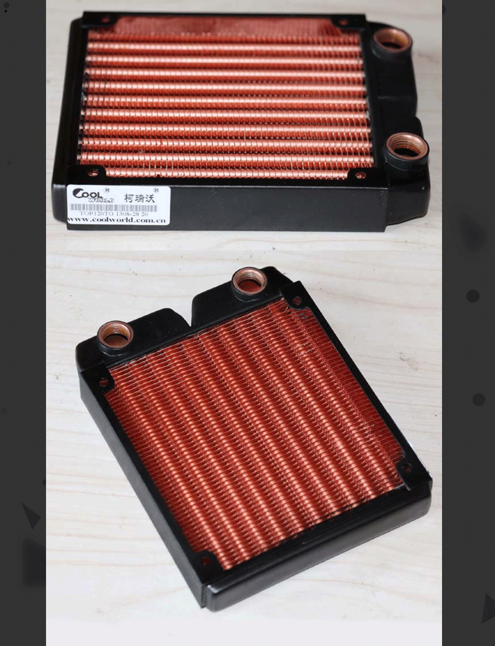 Ke Ruiwo Катюша серии 120 мм полностью красный медный радиатор водяного охлаждения подходит для вентиляторов 120 мм