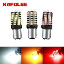KAFOLEE 1Pcs Novo 1157 P21/5W BAY15D 3600Lm canbus Super Bright LED Auto Cauda Lâmpada De Freio Do Carro luzes Diurnas Luz Reversa