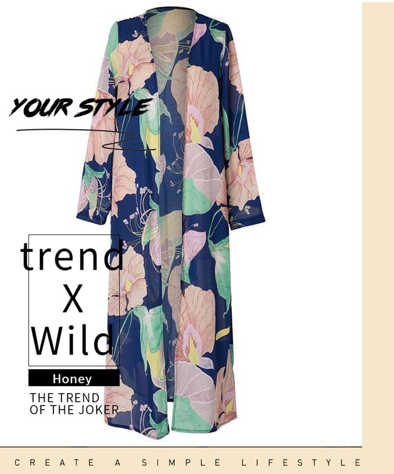 Женская тонкая длинная куртка, весна-осень, верхняя одежда, подушка, открытая стежка, уличная одежда с длинным рукавом, куртка с цветочным узором, Женское пальто