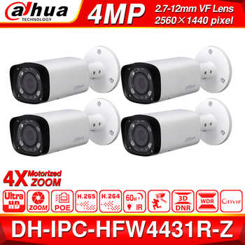 Wholesale DH IPC-HFW4431R-Z 4pcs/lot 4mp Network IP Camera 2.7-12mm VF Lens Auto Focus 60m IR Bullet Security POE For CCTV Kits - DISCOUNT ITEM  0% OFF All Category
