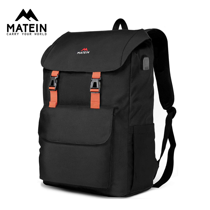 Matein Men Women Backpack 17inch Laptop Backpack Waterproof Polyester Laptop Backpacking Backpack School Bag  Mochila Mujer