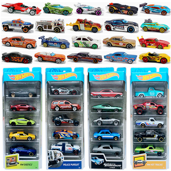 Original 5pcs/pack Hot Wheels Cars Toy 1:64 Model Car Hotwheels Cars Toys for Boys Fast and Furious Diecast Carro Gift hotwheels roundabout track toy kids cars toys plastic metal mini hotwheels cars machines for kids educational car toy