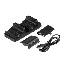 USB Dual Charging Dock Charger For XBOX ONE+2x 300mAh Rechargeable Battery Bateria For XBOX ONE Wireless Controller Gamepad цена и фото
