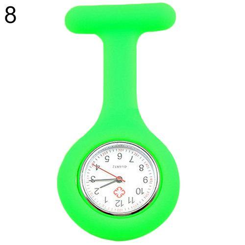 Модные повседневные женские часы Fob, милые силиконовые часы, часы для медсестры, брошь Fob, туника, кварцевые часы с механизмом, медицинские часы, reloj de b - Цвет: Зеленый