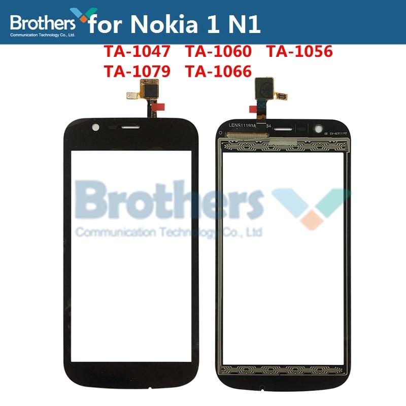 Touch Screen Digitizer For Nokia 1 N1 Front Glass Touch Panel TA-1047 TA-1060 TA-1056 TA-1079 TA-1066 Glass Lens Sensor Part Top