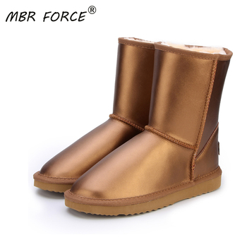 цены MBR FORCE Australia Classic Top Quality Women Genuine Cowhide Leather  Snow Boots Fur Snow Boots Warm Winter Boots Women Boots