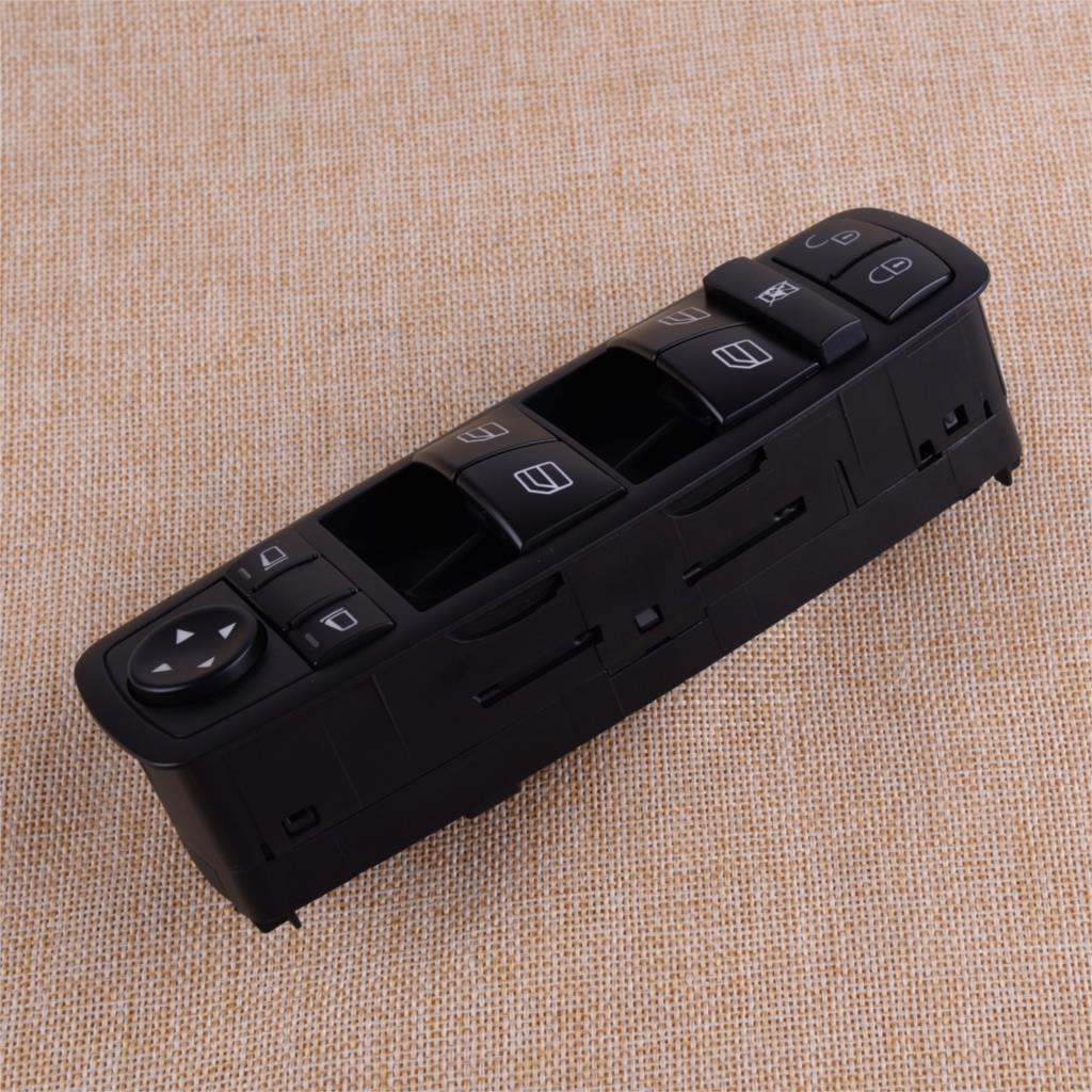 CITALL Black ABS Window Master Switch Button <font><b>A1698206610</b></font> Fit For Mercedes-Benz A B Class W169 W245 2005-2011 image