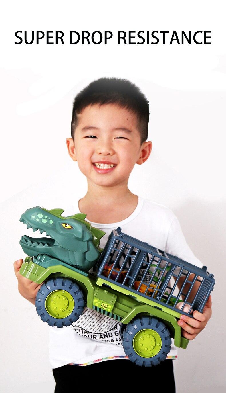 Crianças grande inercial dinossauro carro engenharia veículo