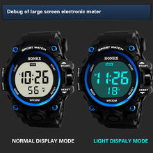 Роскошные Для мужчин цифровые часы военный спортивный стиль