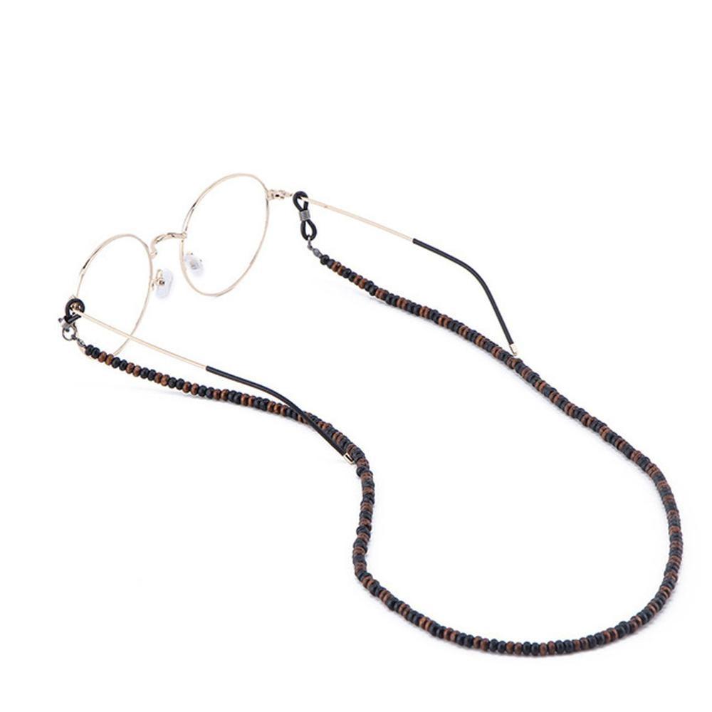 Women Wooden Beads Eyewear Chains Sunglasses Eyeglass Lanyards Cord Holder Reading Glasses Chain Rope
