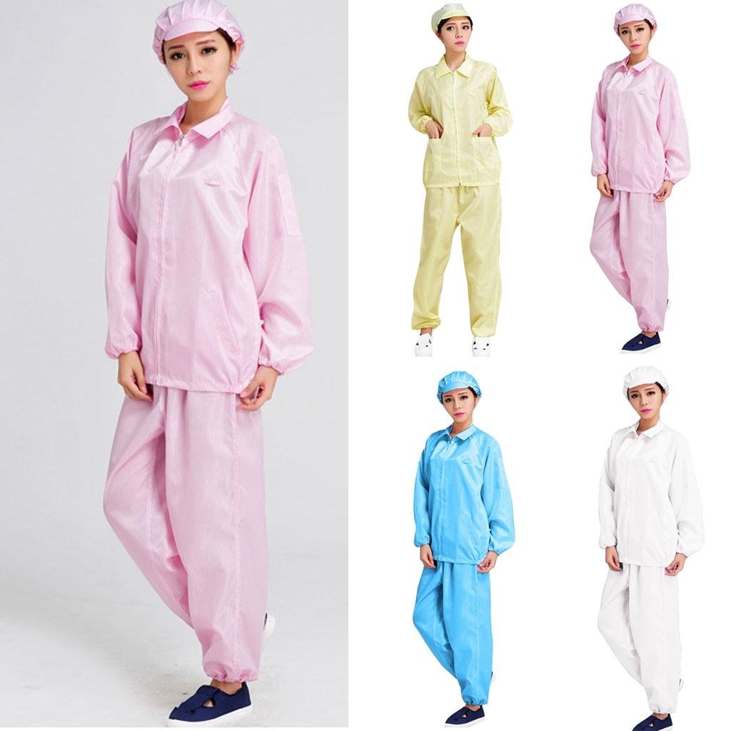 Unisex Disposable Protective Split Suit Anti-Static Waterproof Anti-alcohol Clothes Anti-plasma Anti-fog Polyester Clothing