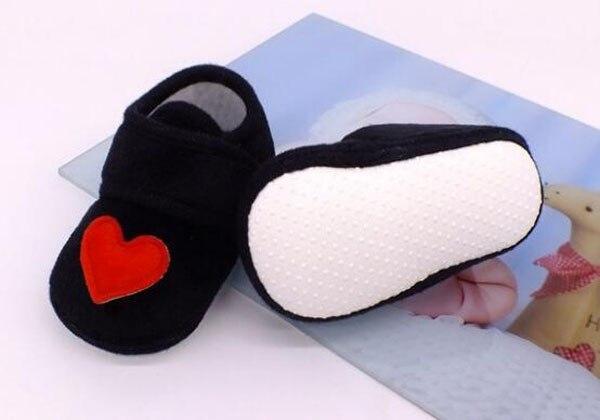 Sapatos bebê vermelho com coração, sapatos infantis rosa de recém-nascido, calçados para berço, antiderrapante, preto, bebê, meninos, nova sandália 2019 doce 6