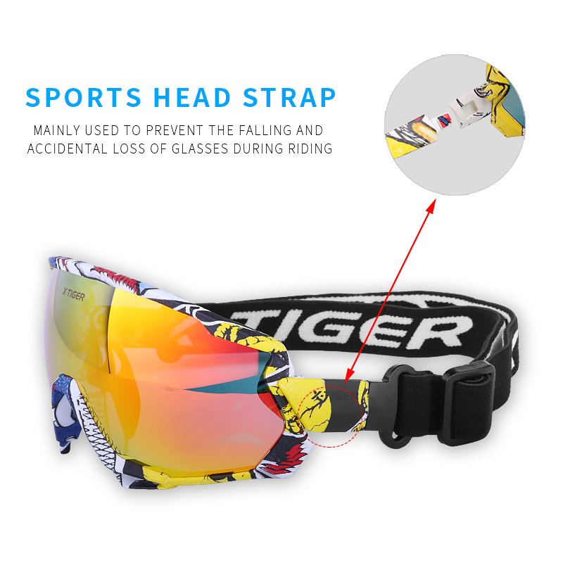 X-TIGER Polarized Wind Cycling Glasses Outdoor Sports Bicycle Glasses MTB Bike Sunglasses Goggles Mountain Bike Cycling Eyewear 3