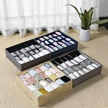 24 Grid Storage Boxes Foldable Bra Underwear Organizer Closet Drawer Divider Ties Socks Scarfs Shorts Case Home Organizing Boxes