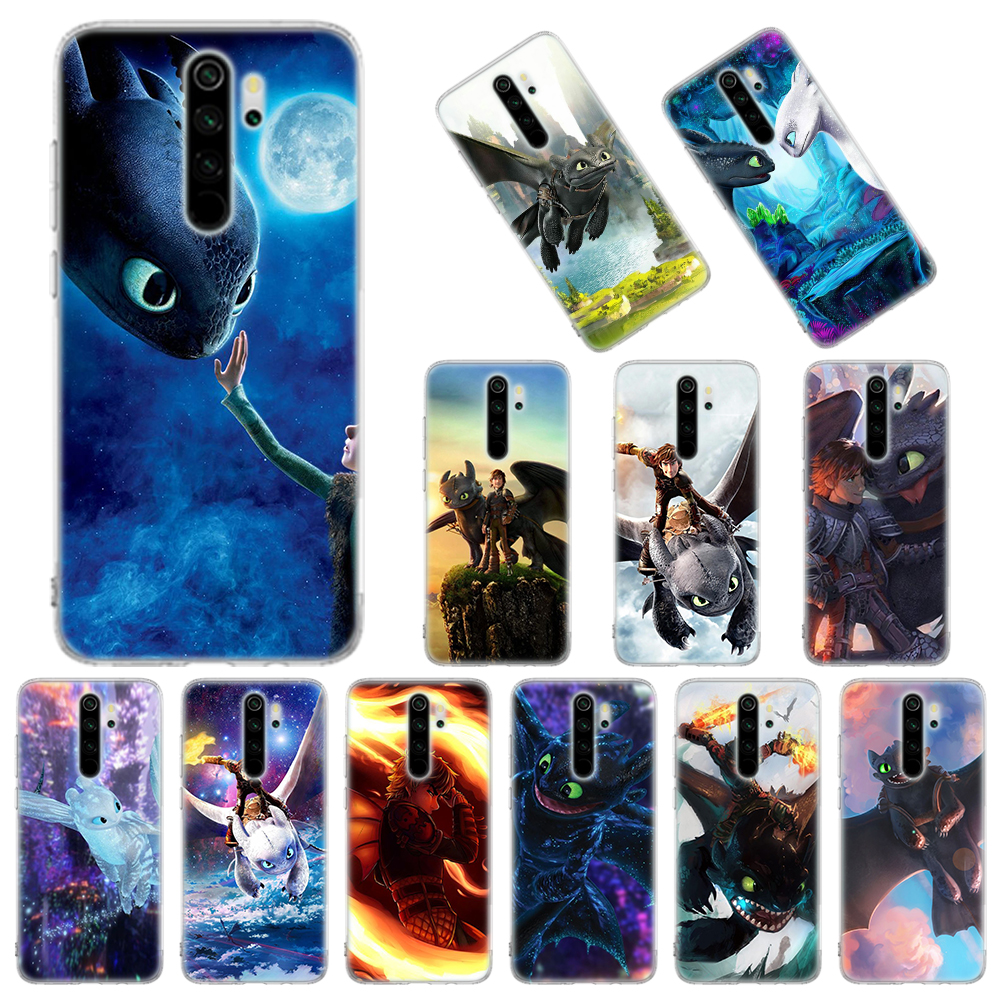 Silicone Case For Xiaomi Redmi Note 8T 9S 6 7 8 Pro 9 Pro Max 6A 7A 8A K20 K30 Pro Cover Toothless How To Train Your Dragon