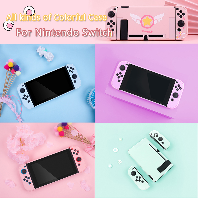 For Nintendo Switch Joy Con L R Protection Cover Case Nintend Switch NS NX Console Back Cover Case Shell Controller Accessories