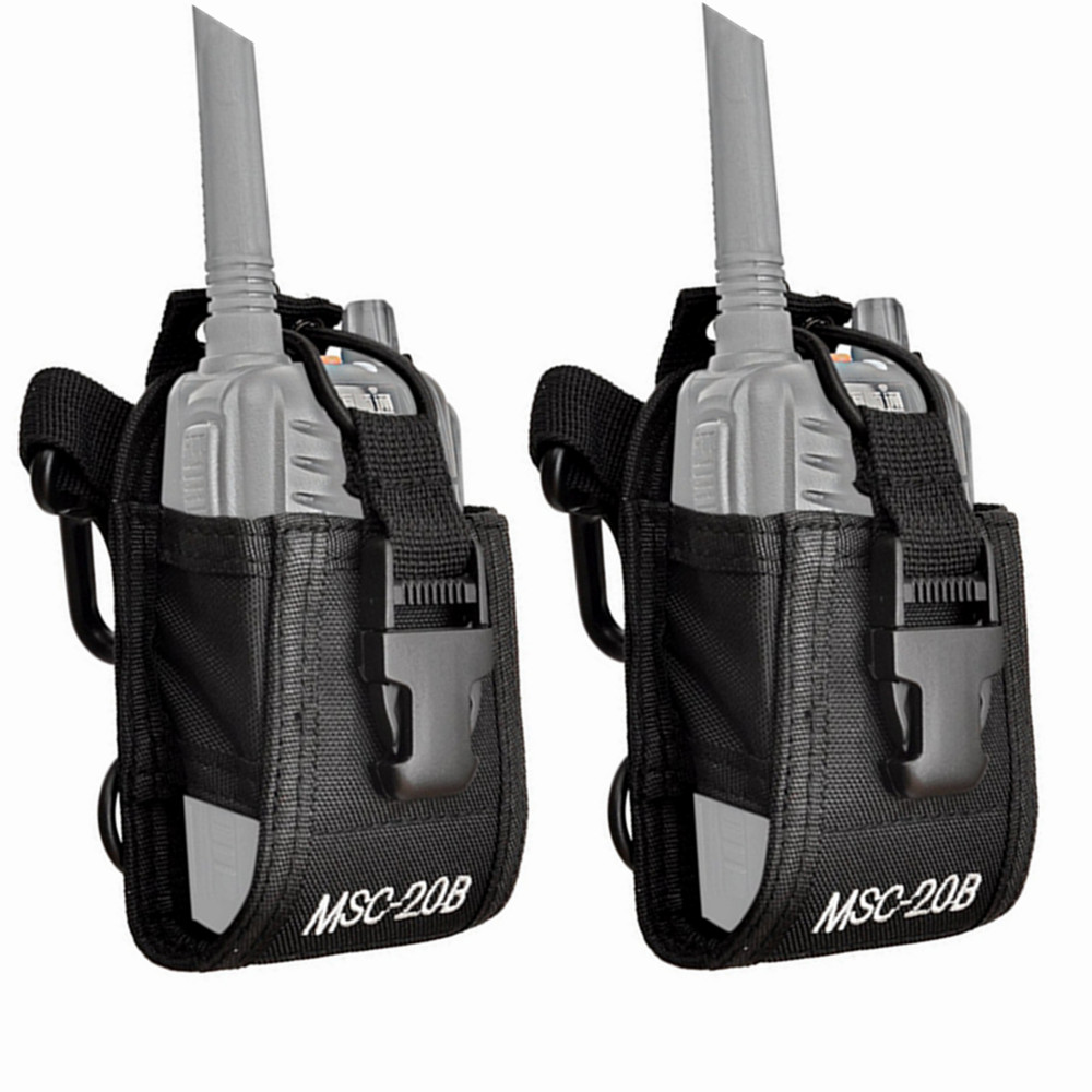 2pcs MSC-20B Nylon Pouch Bag Carry Case For BaoFeng UV-5R UV-82 UV-9R Plus BF-888S TYT Mototrola KENWOOD Walkie Talkie Radio