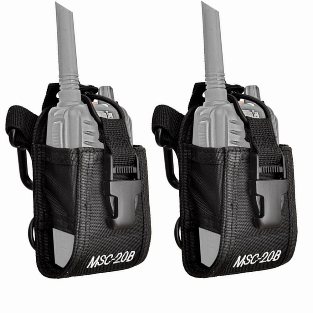 2pcs MSC-20B Nylon Pouch Bag Carry Case For BaoFeng UV-5R UV-82 UV-9R Plus BF-888S TYT Mototrola KENWOOD Walkie Talkie Radio