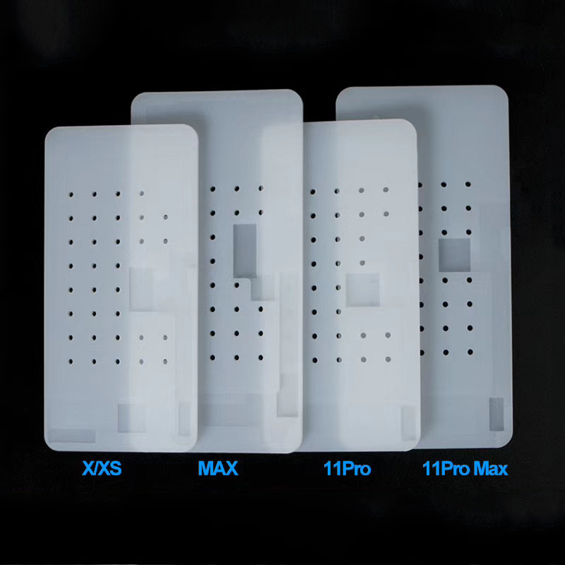 Anti-Slip Silicone Rubber Mat For IPhone 11 Pro MAX Pro 11 X XS XS Max High Temperature Resistance Vacuum Suction Pad With Hole